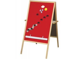 Chevalet magnétique en flannelle Best-Rite avec structure en bois