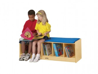 Banc de lecture avec espace de rangement de Jonti-Craft