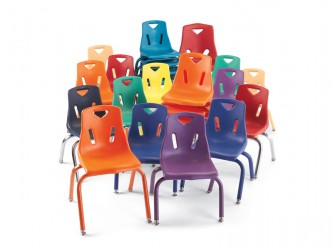 Chaises empilables Berries pour enfants de Jonti-Craft