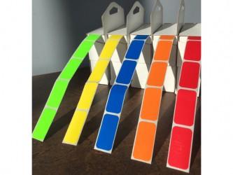 """Étiquettes de couleur - 5/8"""" x 1 1/4"""""""