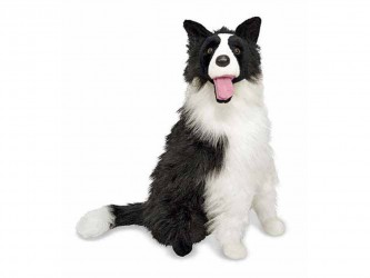 Toutou géant en peluche de Melissa And Doug - Border Collie