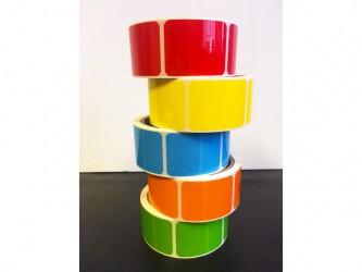 """Protège-étiquettes de couleur - 1 1/2"""" x 2"""""""