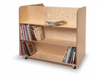 Whitney Brothers Two-Sided Mobile Library Cart