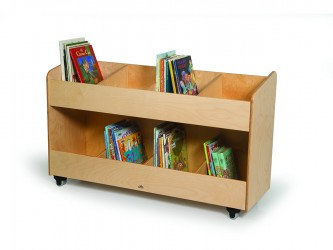 Whitney Brothers Mobile Book Storage Cabinet