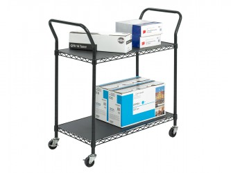 Safco Wire Utility Cart - 2 Shelves