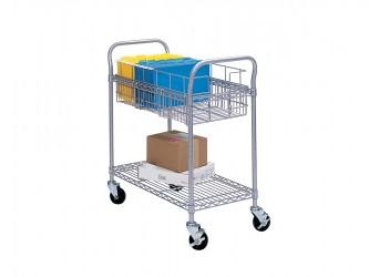 Chariot de courrier en fil métallique de Safco