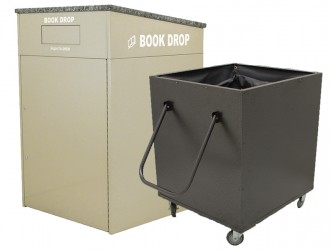 American Book Returns M910 Interior Book Return with cart