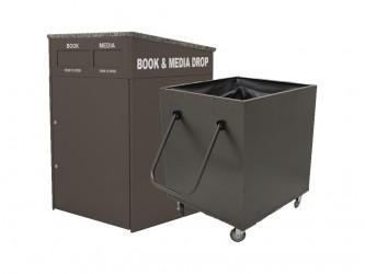 Chute à livres intérieure M910 double d'American Book Returns et bac de retour