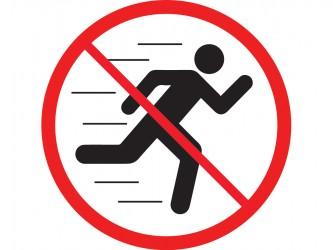 Pictogramme en vinyle autocollant - Interdiction de courir