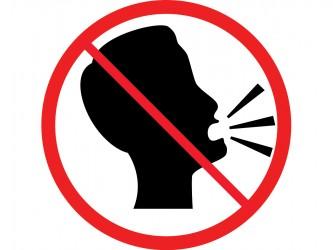 Pictogramme en vinyle autocollant - Interdiction de crier