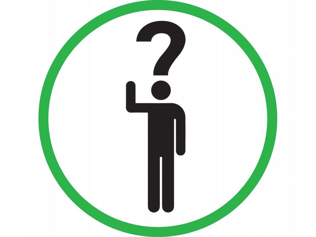 Self Adhesive Vinyl Sign Ask Questions Biblio Rpl Lt 233 E