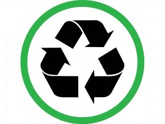 Pictogramme en vinyle autocollant - Recyclage