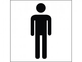 Self-Adhesive Vinyl Sign - Men Restroom