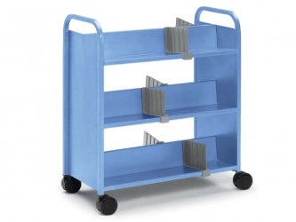 Smith System Booktruck with 6 sloping shelves