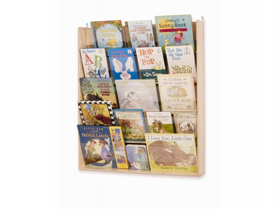 Tag re murale en bois pour livres de whitney brothers - Etagere murale pour livre ...