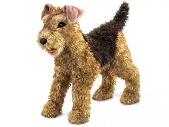 Marionnette à main Airedale Terrier de Folkmanis