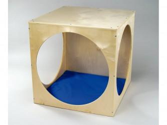 Tapis bleu pour le cube de jeu de Whitney Brothers