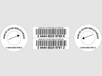 Codes à barres laser avec étiquettes rondes