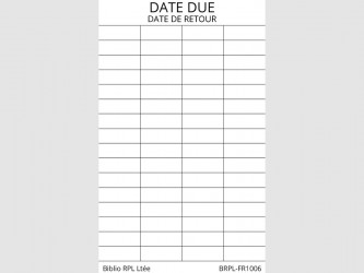 Bilingual Date Due Slips