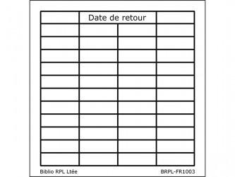 Feuillets Date de retour