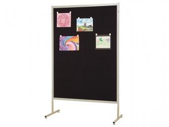 Panneau d'affichage mobile en tissu