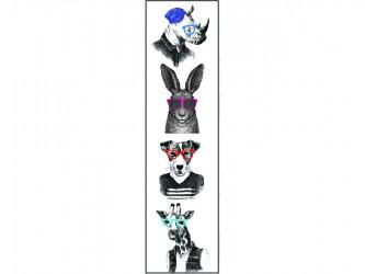 """Animals with glasses"" Biblio RPL Bookmarks"
