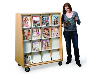 Gressco Omni Mobile Magazine Display Storage Cabinet