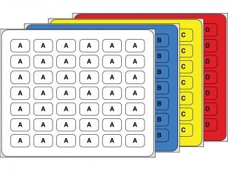 Étiquettes alphabétiques et numériques horizontales