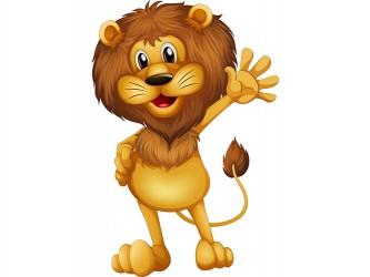 Mascotte Lion en vinyle