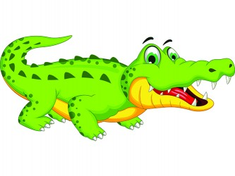 Mascotte Alligator en vinyle