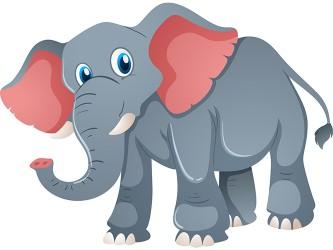 Mascotte Éléphant en vinyle