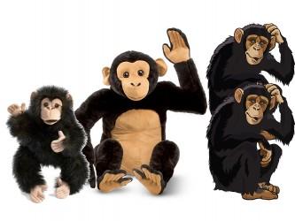 Ensemble complet de mascotte - Les chimpanzées