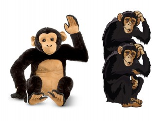 Giant Mascot Pack - Chimpanzees