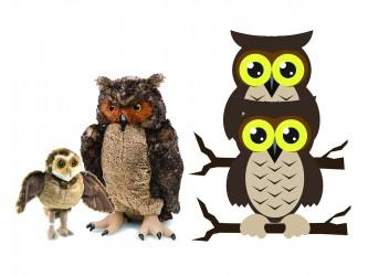 Ensemble complet de mascotte - Les hiboux