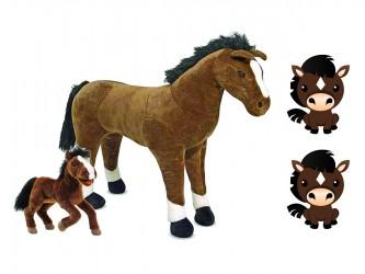 Ensemble complet de mascotte - Les chevaux