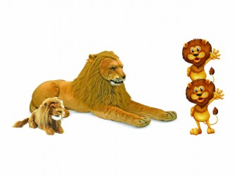 Ensemble complet de mascotte - Les lions