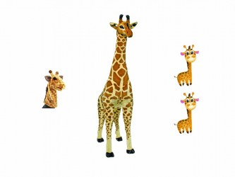 Ensemble complet de mascotte - Les girafes
