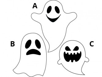 Halloween Vinyl Wall Decals - Ghost