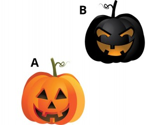 Halloween Vinyl Wall Decals - Pumpkin