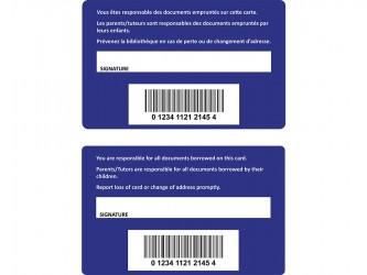 Customized Patron Cards