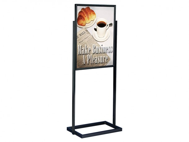 Double Sided Poster Stand For Floor Biblio Rpl Lt 233 E