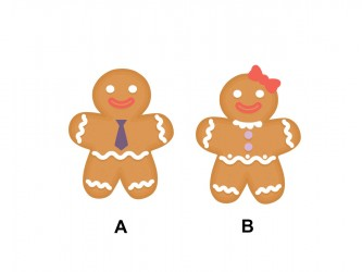 Christmas Vinyl Wall Decals - Gingerbread man - woman