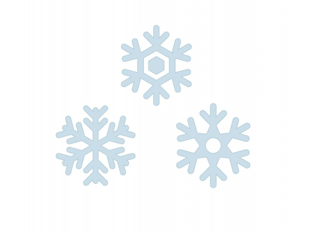 Christmas Vinyl Wall Decals   Snowflakes