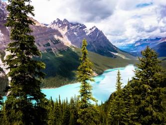 Affiche en vinyle autocollant - La source dans les montagnes