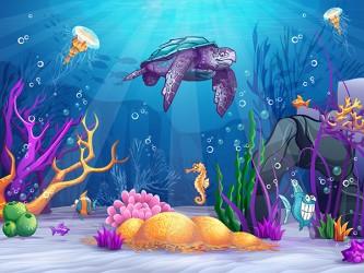 Affiche en vinyle autocollant - Sous la mer