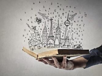 Affiche en vinyle autocollant - Un livre sur le monde