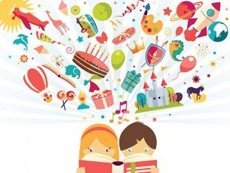 Affiche en vinyle autocollant - L'imagination des enfants