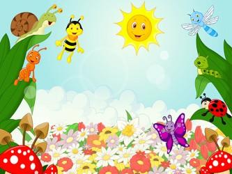 Affiche en vinyle autocollant - L'abeille et ses amis
