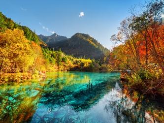 Affiche en vinyle autocollant - L'automne en montagne