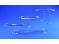 Présentoir en acrylique à 3 plate-formes ovales